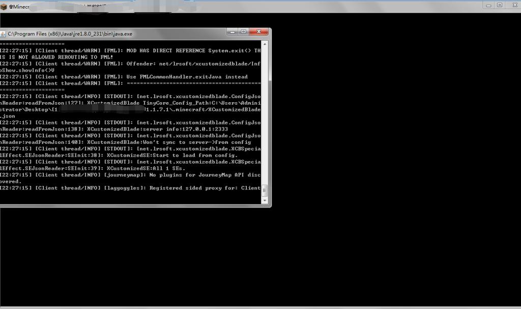 我的世界客户端启动时只有黑框和命令怎么办